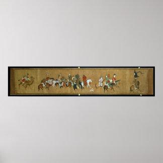 Un convoy de Mongols, chinos, siglo XIV Impresiones