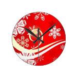 Un copo de nieve con remolinos relojes de pared