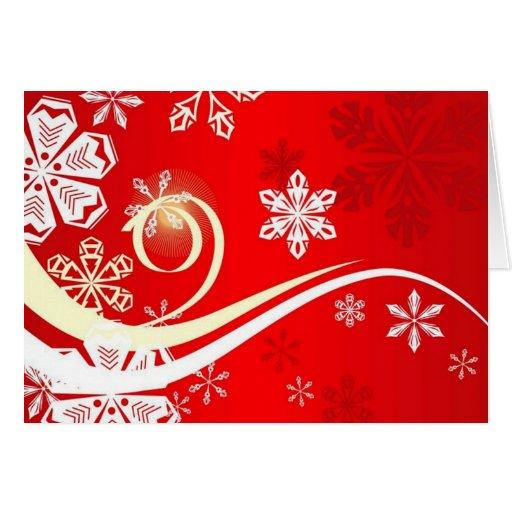 Un copo de nieve con remolinos tarjeton