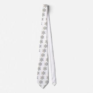 Un copo de nieve reluciente corbata