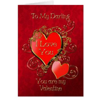 Un corazón a dar para mostrar su amor para tarjeta de felicitación