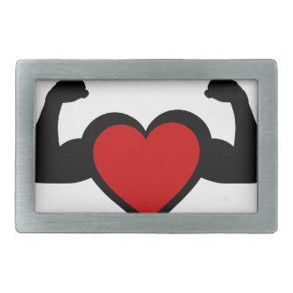 Un corazón con doblar el corazón sano de los hebilla de cinturon rectangular