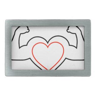 Un corazón con doblar el corazón sano de los hebillas de cinturón rectangulares