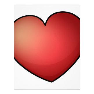 Un corazón con las alas plantilla de membrete