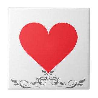 Un corazón del amor y del afecto azulejo cuadrado pequeño