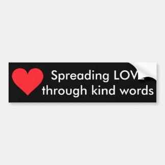 Un corazón del amor y del afecto pegatina para auto