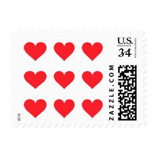 Un corazón del amor y del afecto sello