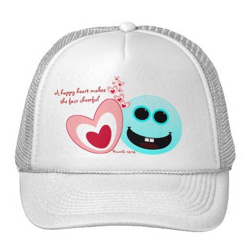 Un corazón feliz - 15:13 de los proverbios gorras