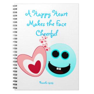 Un corazón feliz - 15:13 de los proverbios libretas