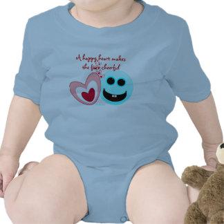 Un corazón feliz - 15:13 de los proverbios trajes de bebé