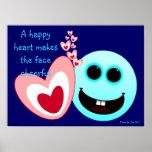 Un corazón feliz - 15:13 de los proverbios posters