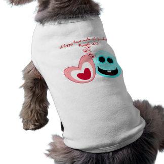 Un corazón feliz - 15 13 de los proverbios camisetas de perro