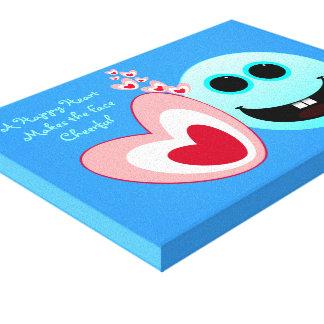 Un corazón feliz - 15:13 NIV de los proverbios Lienzo Envuelto Para Galerías