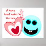 Un corazón feliz - 15:13 NIV de los proverbios Poster