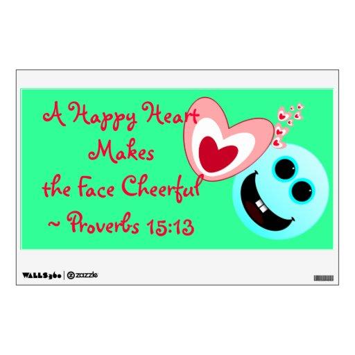 Un corazón feliz - 15:13 NIV de los proverbios Vinilo