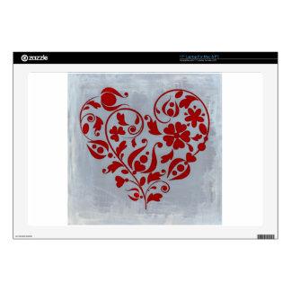 Un corazón floral skins para 43,2cm portátiles