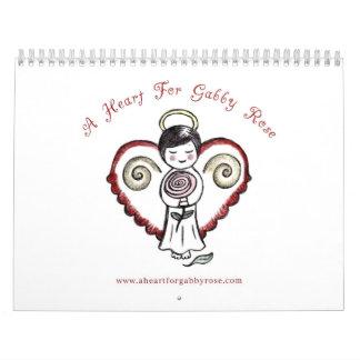 Un corazón para el calendario color de rosa locuaz