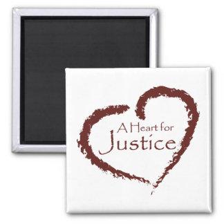 Un corazón para el imán de la justicia