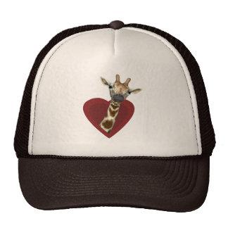 Un corazón para las jirafas gorro