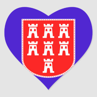 Un corazón para Saxonia Pegatina En Forma De Corazón