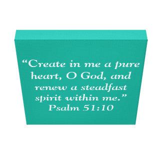 """""""Un corazón puro"""" la escritura 12 X12 envolvió la Impresión En Lienzo Estirada"""
