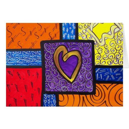 Un corazón tarjetas