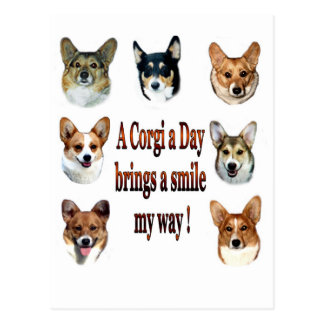 Un Corgi al día trae una sonrisa 7 Postal