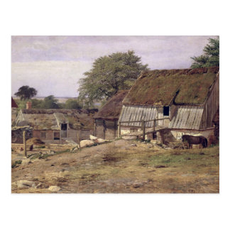 Un cortijo en Suecia, 1834 Tarjeta Postal