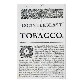 Un Counterblast al tabaco Impresiones