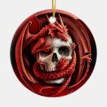 Un cr�ne para Halloween - Adorno Navideño Redondo De Cerámica