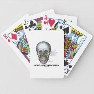 Un cráneo bien definido (anatomía médica) baraja de cartas bicycle