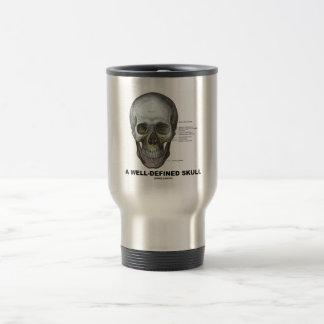 Un cráneo bien definido (anatomía médica) taza térmica