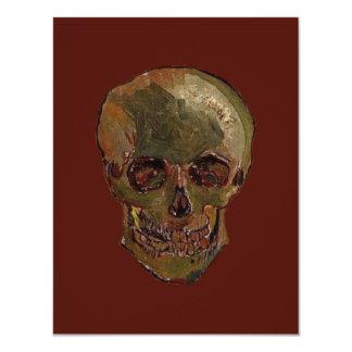 """Un cráneo de Vincent van Gogh Invitación 4.25"""" X 5.5"""""""
