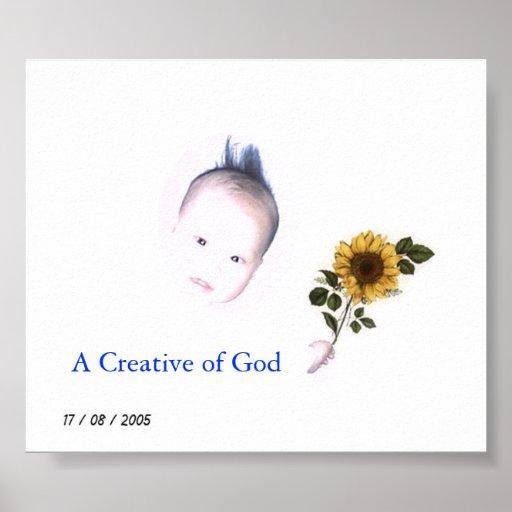 Un creativo de dios posters
