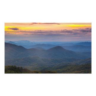 Un crepúsculo apalache - remiendo máximo, NC Fotografias