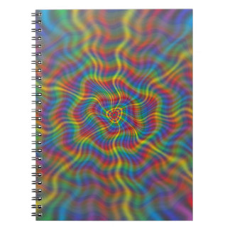 Un cuaderno atómico del arco iris