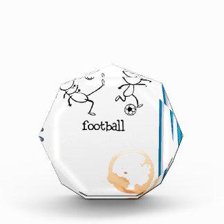 Un cuaderno con un diseño del fútbol