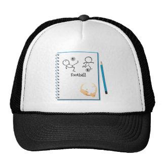 Un cuaderno con un diseño del fútbol gorro