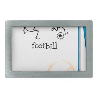 Un cuaderno con un diseño del fútbol hebilla cinturon rectangular