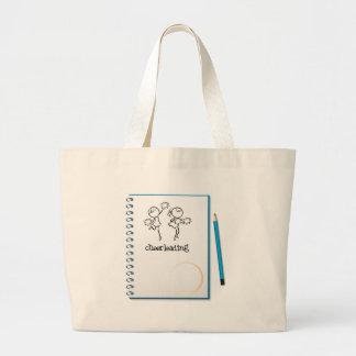 Un cuaderno con un diseño que anima bolsa tela grande