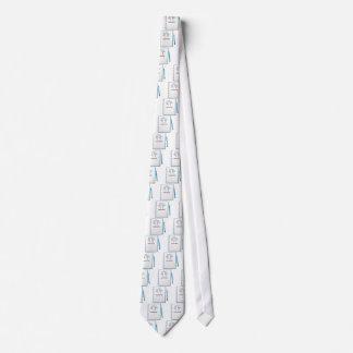 Un cuaderno con un diseño que anima corbata personalizada