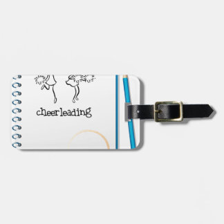 Un cuaderno con un diseño que anima etiquetas bolsa