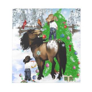 Un CUADERNO del navidad del caballo y del niño Libreta Para Notas