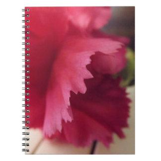 Un cuaderno rosado suave de la melodía