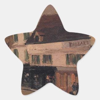 Un cuadrado en La Roche Guyon de Camille Pissarro Pegatina En Forma De Estrella