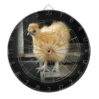 un cuadro pequeno hermoso del pollo de Silkie Tabla Dardos