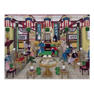 Un cuarto en la casa de Sr. Kong, comerciante de Tarjetas Postales