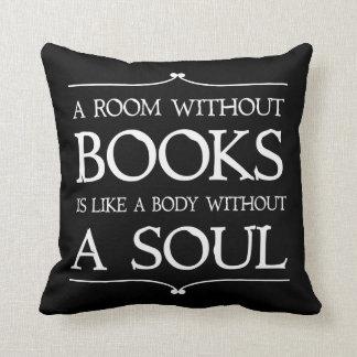 Un cuarto sin cita de los libros cojines