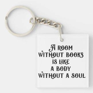 """""""Un cuarto sin llavero de acrílico de los libros"""""""
