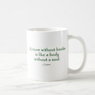 Un cuarto sin los libros (Cicero) Taza Básica Blanca